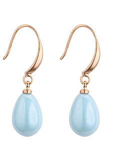 Water Shape Faux Crystal Earrings For Women