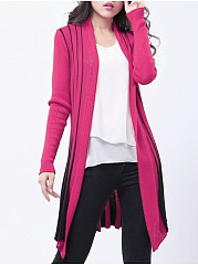 Assorted Colors Graceful Collarless Cardigan