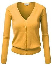 Trendy V Neck 5 Colors Basic Plain Cardigan