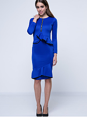 Falbala Fantastic &Stylish Round Neck Bodycon Dress