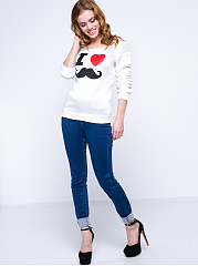Autumn Spring Winter  Cotton  Women  Boat Neck  Printed  Long Sleeve Long Sleeve T-Shirts