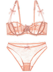 Thin Sexy Hollow Out Lace Brief Set