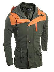 Men-Hooded-Drawstring-Flap-Pocket-Color-Block-Jacket