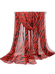 Zebra Stripes Printed Scarf