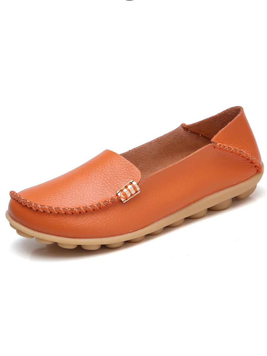 Solid Basic Soft Sole Loafers