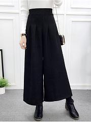 Elastic-Waist-Woolen-Wide-Leg-Casual-Pants
