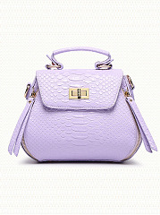 Pu Crocodile Small Bag Piggy Messenger Bag