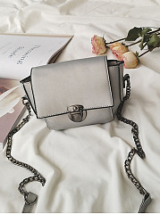 Plain Basic Chain Crossbody Bag