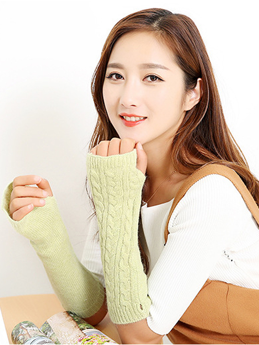 Winter  Long Stylish Figure Warmer Knitted Gloves