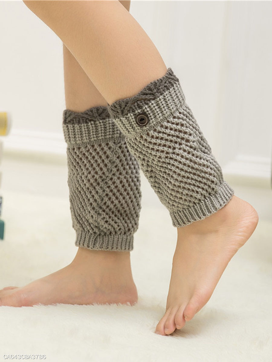 Knitting Boots Short Leg Warmers
