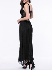 Flowing Solid Flared Maxi Skirt