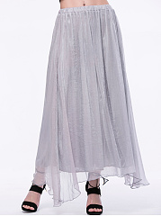 Flowing-Solid-Flared-Maxi-Skirt