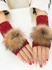 Fur-Ball-Knitted-Half-Finger-Winter-Gloves