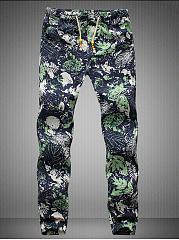Tropical-Printed-Drawstring-Mens-Casual-Pants
