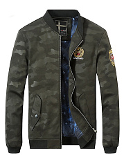Camouflage-Flap-Pocket-Badge-Men-Bomber-Jacket