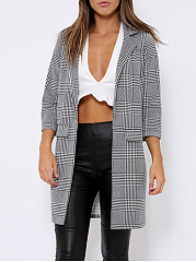 Blazer Polyamide Flap Pocket Houndstooth