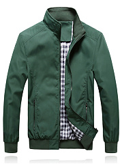 Band Collar  Plain Men Jacket