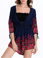 Hot-Deep-V-Neck-Tribal-Printed-Wide-Leg-Romper