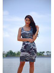 Camouflage Printed  Straight Shift Dresses