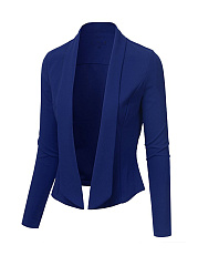 Lapel Trendy Plain Short Blazer