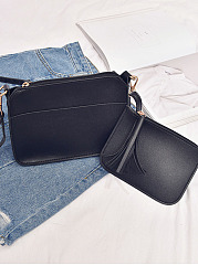Two Pieces Crossbody Bag And Coin Bag
