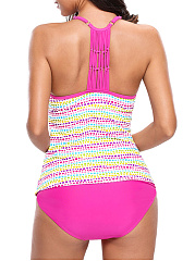 Spaghetti Strap Swimwear In Colorful Polka Dot