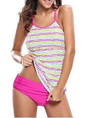 Spaghetti-Strap-Swimwear-In-Colorful-Polka-Dot