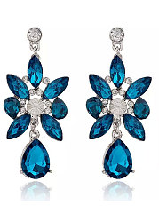 Faux Crystal Elegant Earrings