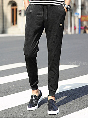 Mens-Casual-Sport-Elastic-Waist-Plain-Jogger-Pants