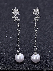 Faux Beads Elegant Earrins For Women