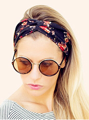 Floral Printed Hair Band