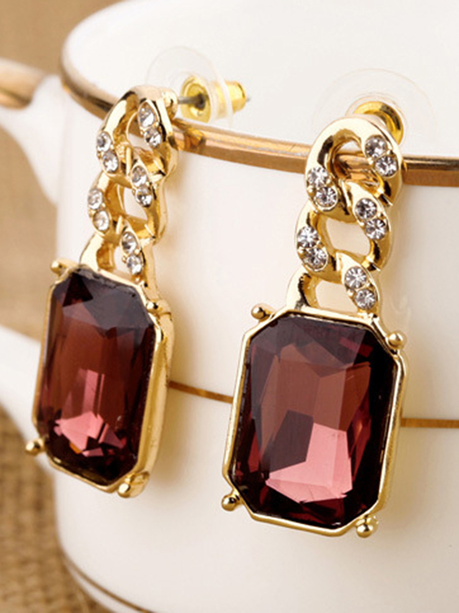 Celebrity Faux Crystal Rhinestone Drop Earrings