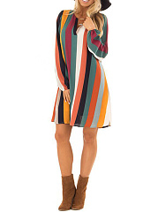 Split Neck  Printed Shift Dress