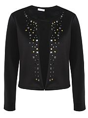 With Rivet Awesome Round Neck Cardigan
