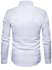 Turn Down Collar  Plain  Cuffed Sleeve  Long Sleeve Long Sleeves