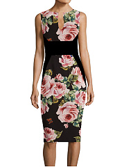 Sweet Heart  Floral Bodycon Dress