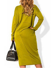 Square Neck  Plain Plus Size Midi & Maxi Dress