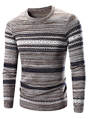Crew-Neck-Striped-Men-Sweater