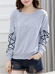 Round-Neck-Rivet-Printed-Sweatshirt