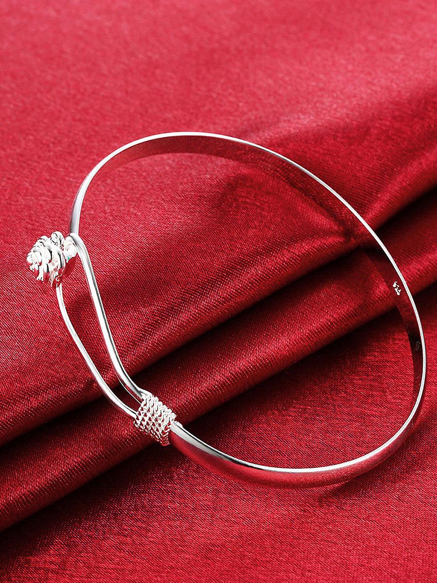 Floral Silver Bracelets For Women