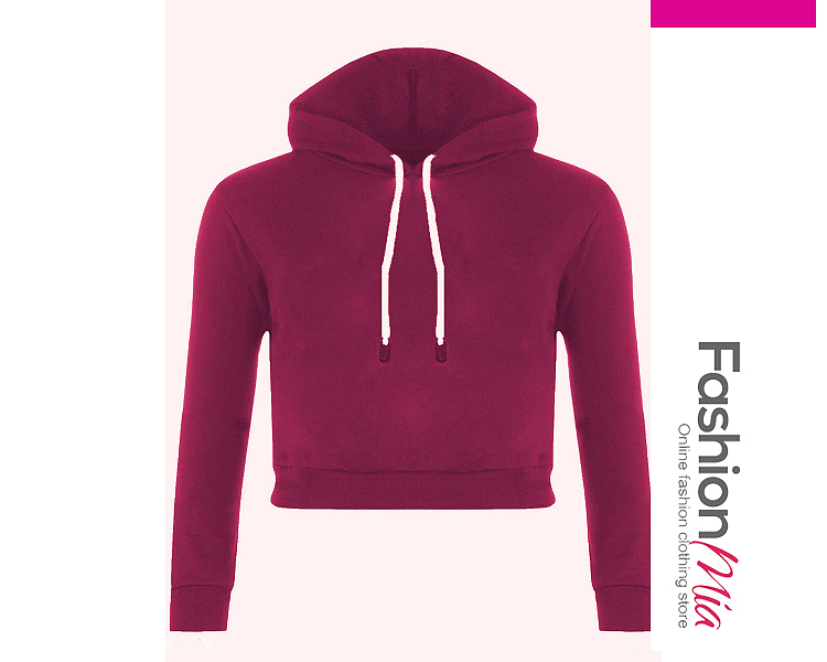 material:blend, collar&neckline:hooded, sleeve:long sleeve, more_details:exposed navel, pattern_type:plain, occasion:casual*street, season:autumn, package_included:top*1, length:44,shoulder:36,sleeve length:55,bust:88,