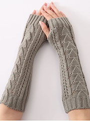 Knit Winter Hollow Out Fingerless Gloves