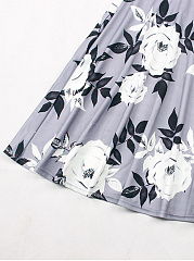 Off Shoulder  Floral Printed Skater Dress