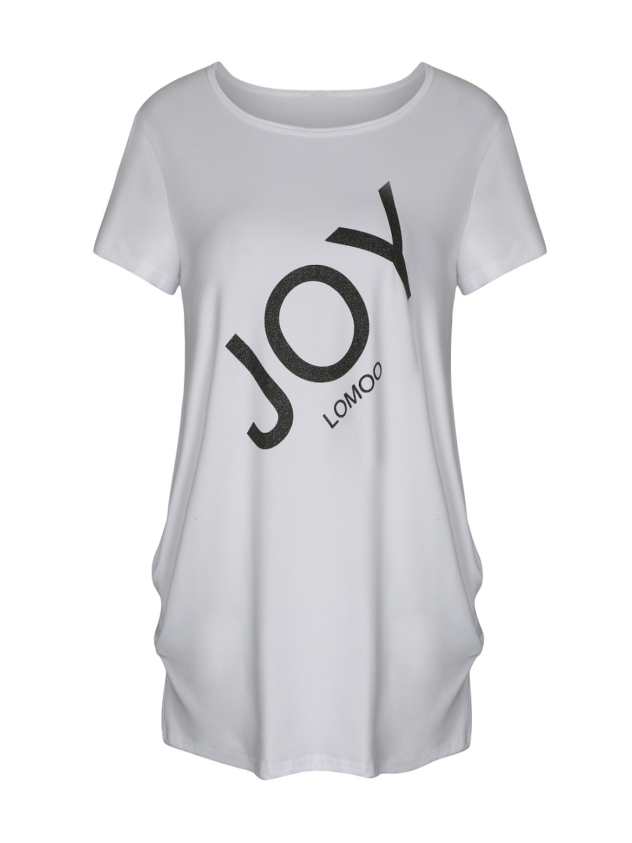 Simple Stylish Letters Short Sleeve T-Shirt