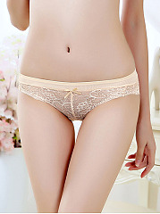 Lace Patchwork Low-Rise Sexy Underpant
