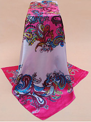 Grace Paisley Satin Square Scarf