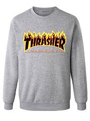 Letters-Printed-Round-Neck-Men-Sweatshirt