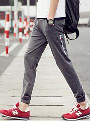 Mens-Casual-Pocket-Letters-Jogger-Pants