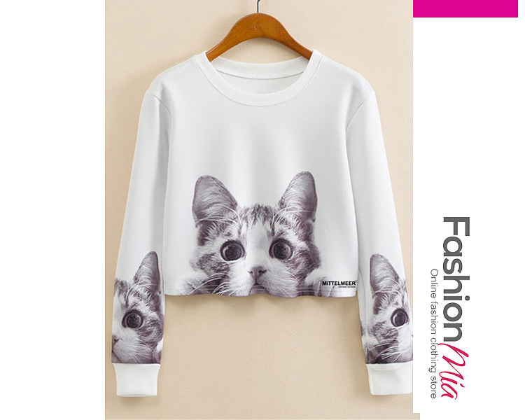 material:blend, collar&neckline:round neck, sleeve:long sleeve, more_details:exposed navel, pattern_type:printed, occasion:casual, season:autumn, package_included:top*1, length:44,shoulder:39,sleeve length:54,bust:88,