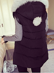 Hooded Pocket Quilted Waistcoat